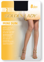 SHEER KNEE-HIGHS  GOLDEN LADY<br> GAMBALETTO Mini Sun 8 :